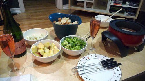 A Valentine's Fondue: Champagne Fondue Recipe